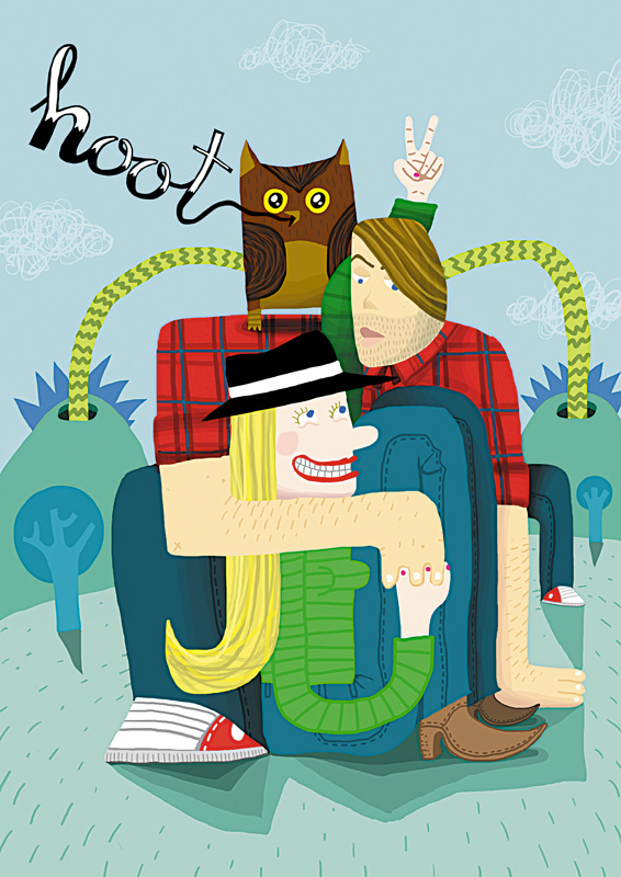 Hoot Illustration