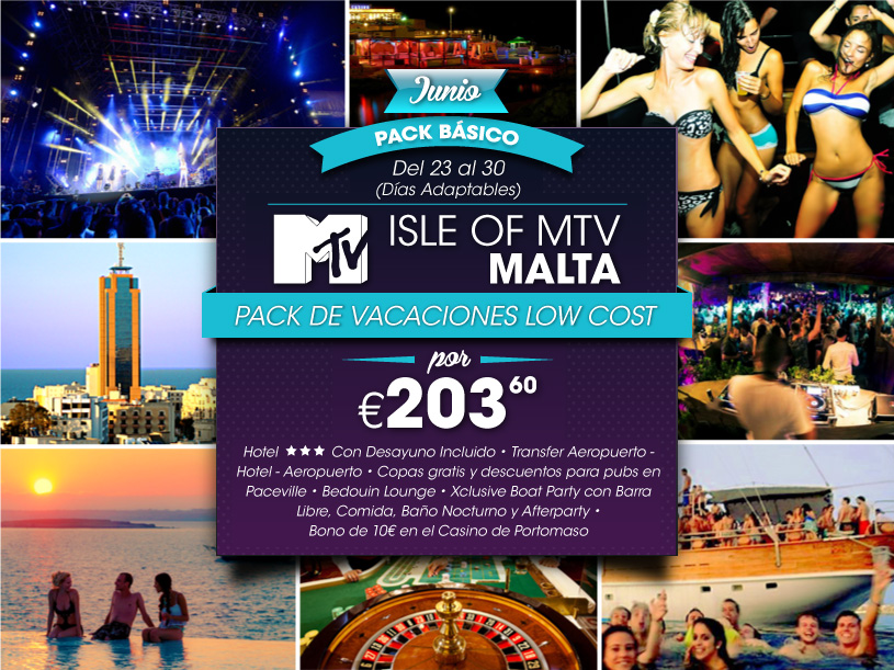 Malta Night Low Cost Holiday Pack