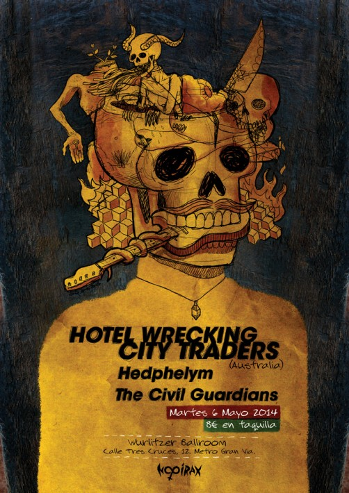 Hotel Wrecking City Traders + Hedphelym + The Civil Guardians Poster