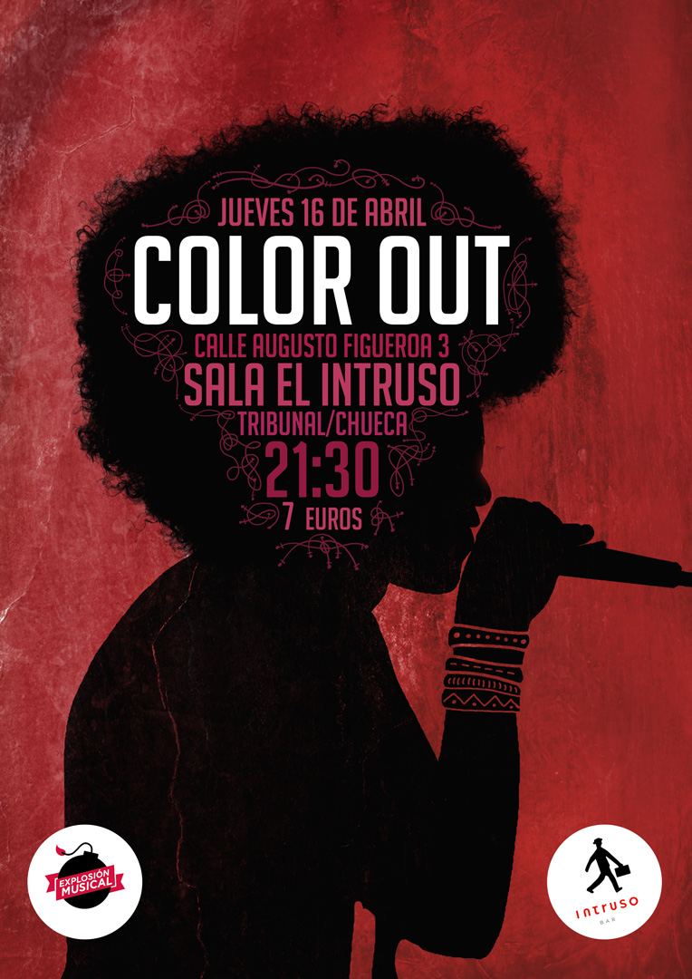 Color Out. Gig Poster. By Miguel Palomar de Diego.