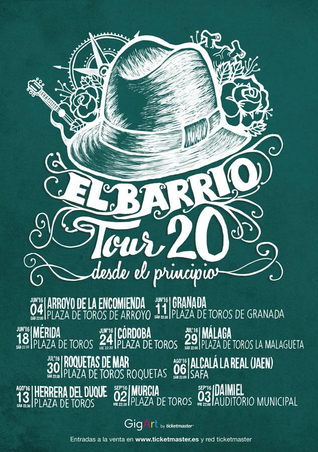 El barrio, poster by Miguel Palomar.