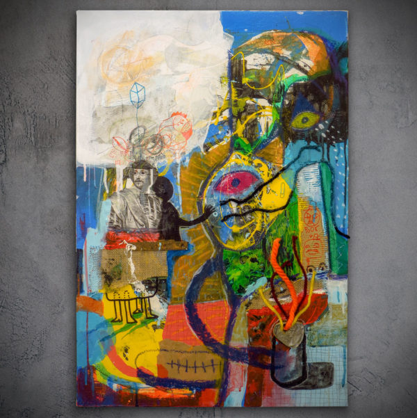 Ego Illustrated- Abstract expressionism painting by Miguel Palomar.